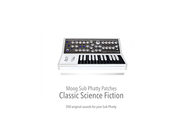 Moog Sub Phatty Classic Science Fiction Patches