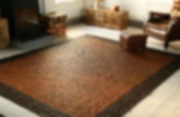 leather handmad rugs, carpets
