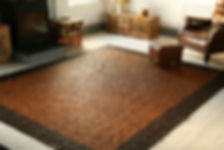 Leather rugs, handmade leather rugs