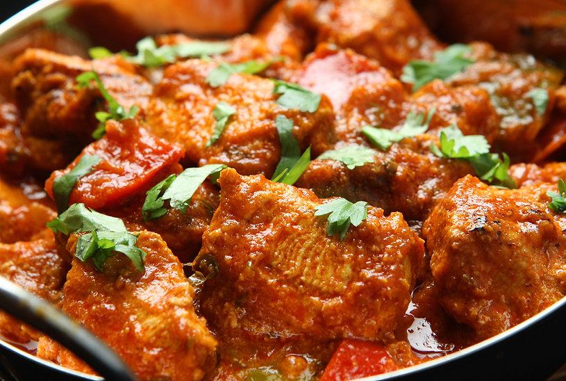 インドのチキンカレー