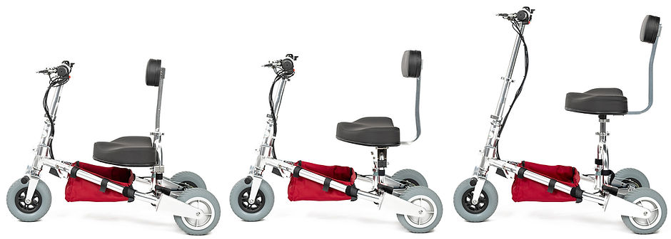 All four sizes of the TravelScoot