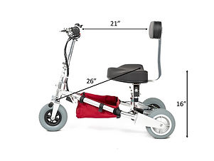 TravelScoot junior mid mod side dimensions