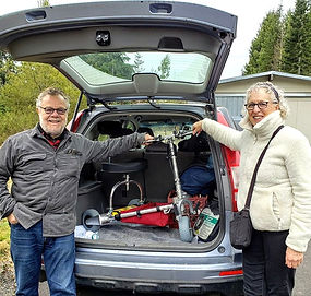 TravelScoot in Subaru Forester
