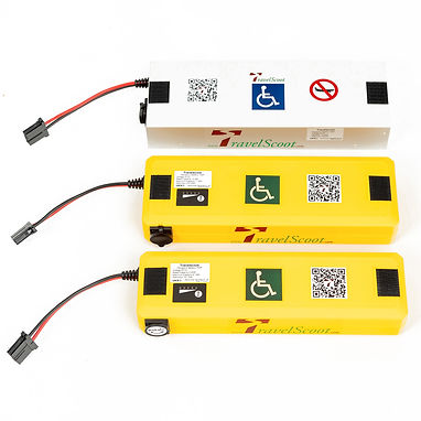 TravelScoot Lithium-ion batteries