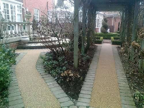 resin bound paving for paths, gravel