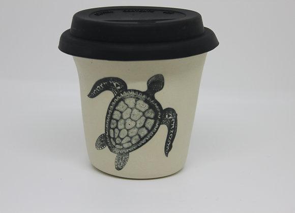 Sea turtle or seahorse travel cup