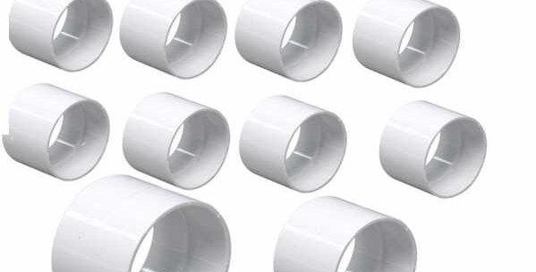 Lot de 10 bagues Union ff pvc blanc avec arrêt pour tuyaux diamètre 51 mm centra