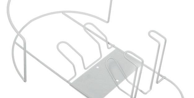 Support mural blanc métallique pour flexible accessoires aspiration drainvac SUP