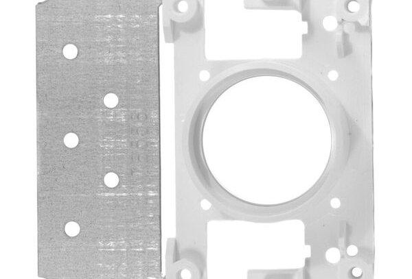 Plaque de montage pour prise rectangulaire avec 6 points de fixation ASPIRATION