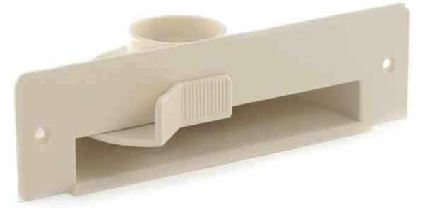 Ramasse miettes plancher trappe aspirante ivoire vacpan pour plinthe ASPIRATION