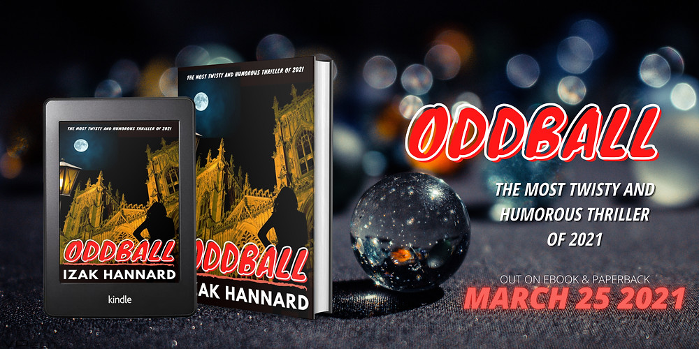 Izak Hannard's new mystery thriller book is now available to pre-order on Amazon Kindle for 99p ahead of its release on ebook and paperback in March 2021
