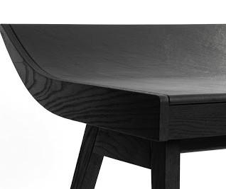 Oak and leather desk Bim Burton