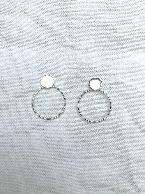 Pendant Hoop Earrings