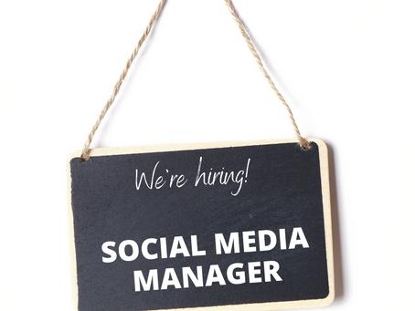 SOCIAL MEDIA MANAGER JOB AD