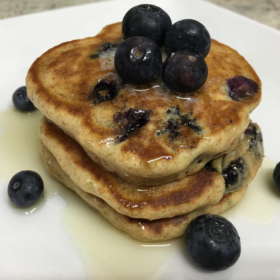 Whole Wheat Blueberry Pancakes