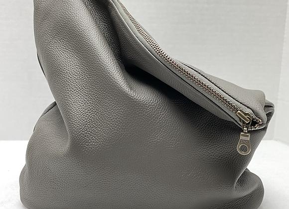 Chaka Clutch ~ Grey Leather