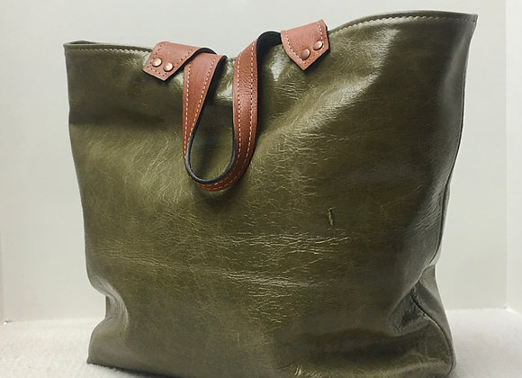 Terry Tote ~ Olive Green