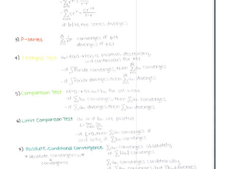 AP Calculus BC - Chapter 10 Convergence Tests