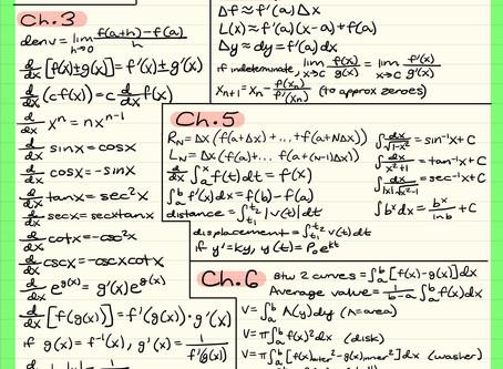 AP Calculus BC Secret Santa Midterm Theorems List