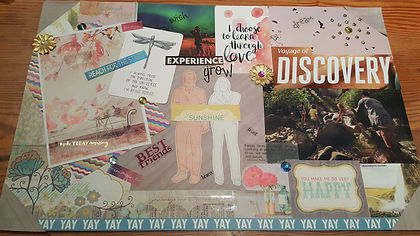 Vision Board I created during a wellness weekend, 2017