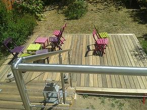 Terrasse bois pin Lambersart