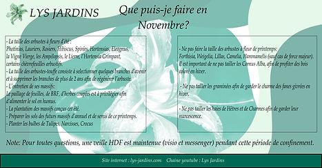 Jardinage Novembre- Coaching Jardins- Lys Jardins- Armentières, Lille