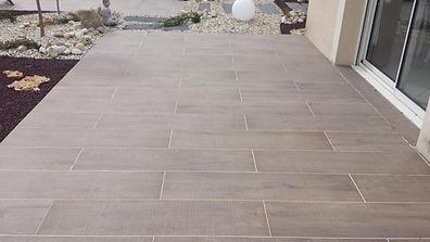 Terrasse imitation bois céramique Houpline