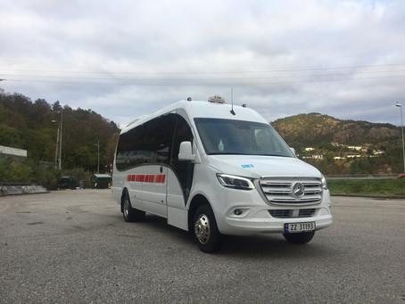 Vi har lever ny minibuss til Bergen.