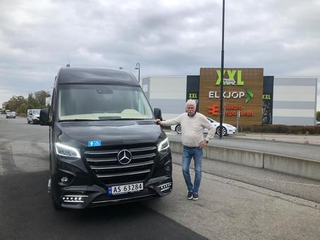 Vi har lever ny minibuss til Brønnøysund.