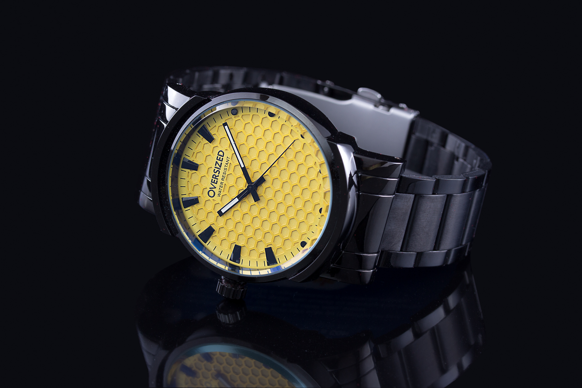 Relógio amarelo