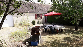 loire valley gite chinon private garden bbq and table and chairs