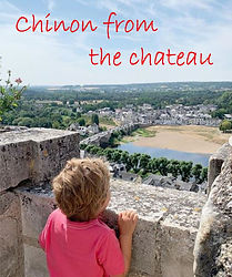 chinon, river vienne from the chateau