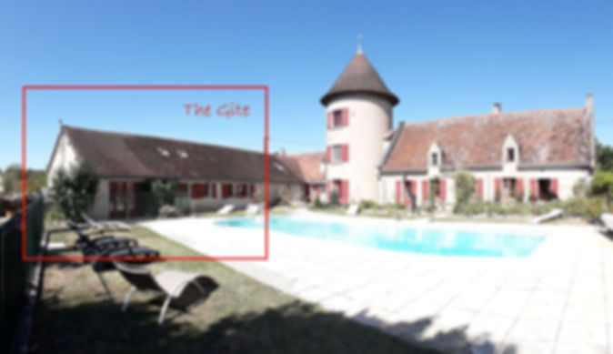 loire valley gite chinon pool and main house