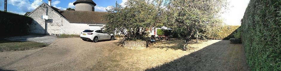 loire valley gite private garden Chezelet Loire Valley