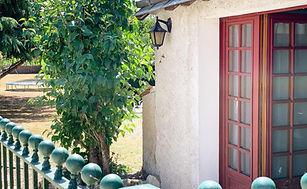 gite doorway and main garden chinon loire valley