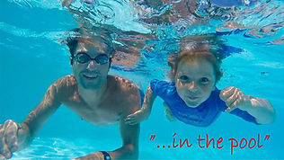 underwater in the swimming pool chezelet near chinon