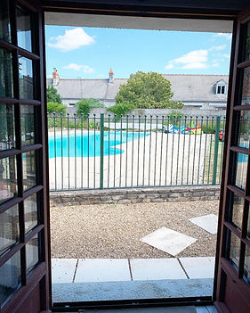 French windows to main garden and swimming pool chinon loire valley
