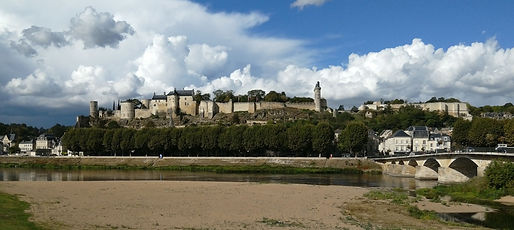 Chinon Chateau from the river bank