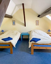 loire valley gite twin bedroom