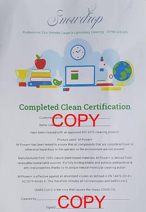 Snowdrop complete clean certificate1.jpg