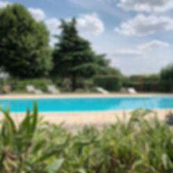 gite swimming pool chezelet chino loire valley