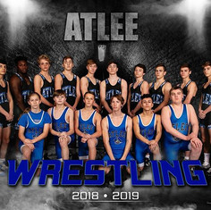 Working with the Atlee Wresting Team las