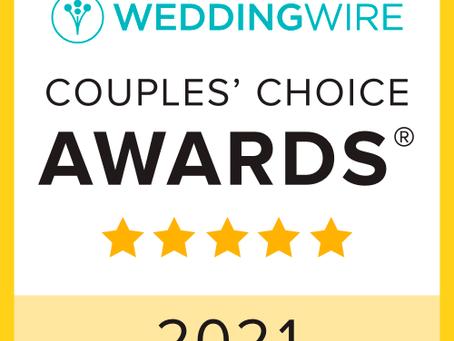 2021 WeddingWire Couples' Choice Awards®