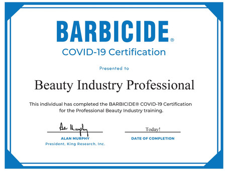 COVID-19 Safety Certification for our entire team at FBJ!
