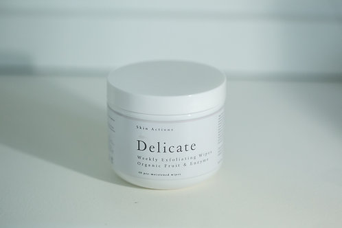 Skin Actions Delicate Weekly Organic Fruit AHA & Enzyme Exfoliation Wipes