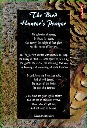 100 Bird Hunter's Prayer Cards