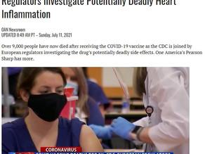 コロナワクチンによる死者数は9千人を超え、CDCと欧州の規制当局は死に至る可能性のある心臓の炎症を調査