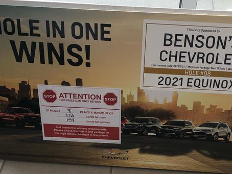 6/5/2021-Benson's Chevrolet Sponsors BIG Prizes!