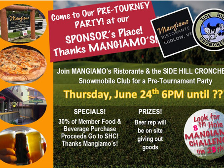6/7/2021-Pre-game Party at Mangiamo's on Thursday, 6/24!
