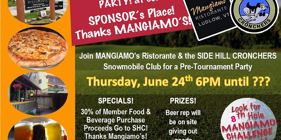 Pre-Tournament Party at Mangiamos